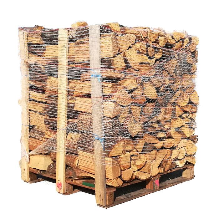 Vente palette de bois de chauffage bûches de chêne blanc 33 cm Bucheafeu