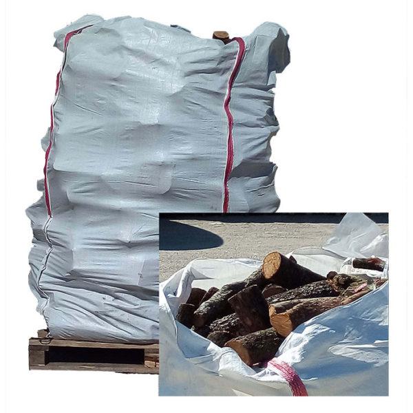 Vente big bag de bois de chauffage bûches de chêne vert 50 cm Bucheafeu