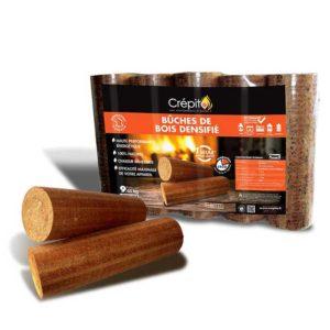 Vente Pack de 5 bûches densifiées Crépito® 30 cm - bois de chauffage dans le Gard Bucheafeu